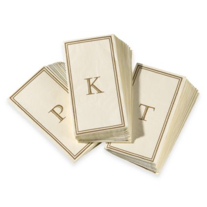 Monogram Disposable Guest Towels