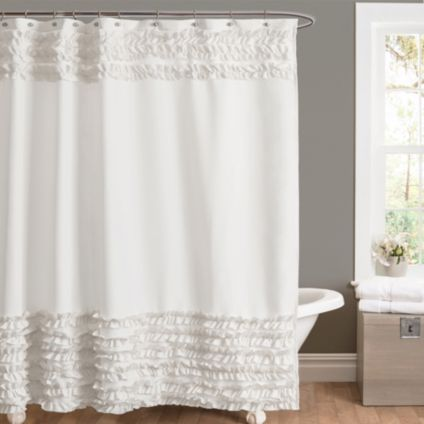Amelie Ruffle Shower Curtains