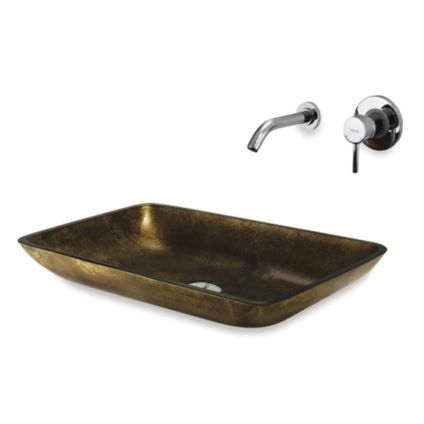 Vessel Sink With Dual Faucet
