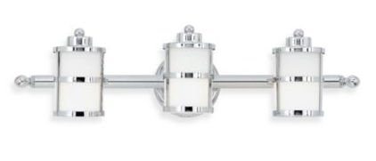 Tranquil Bay Bathroom Light Fixture in Polished Chrome