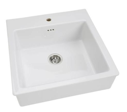 White ceramic Domsjo Sink