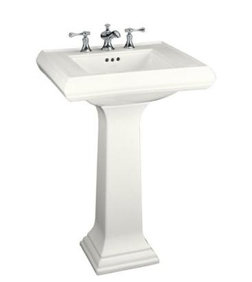K-2267-0 Memoirs Pedestal Sink in white