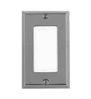 Classic Square Beveled-Edge Single GFCI Switch Plate