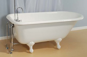 Geneva Rolltop Cast Iron Tub