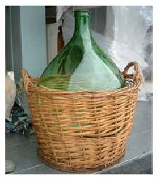 Vintage Jug with Basket