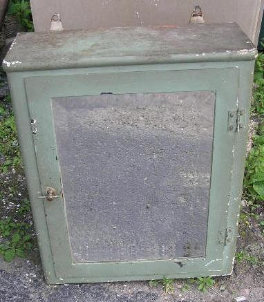 Vintage Green Steel Cabinet