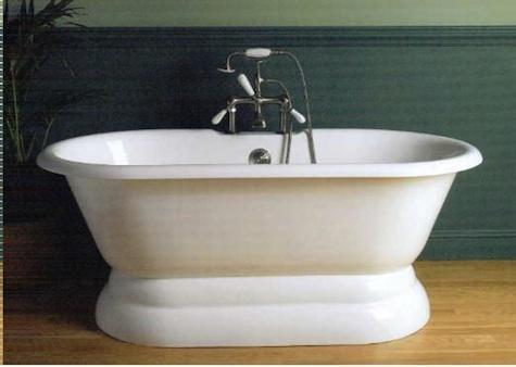 Sunrise Cast Iron Specialty Double-Ended Pedestal Bath