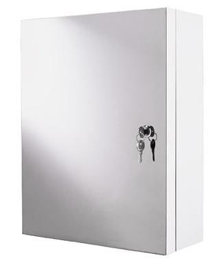 Atran lockable cabinet in stainless steel