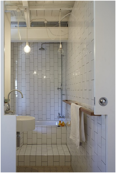 white bathroom design - 2