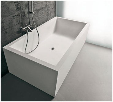 The Biblio by Antonio Lupi for Boffi is a Corian tub