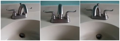A Sink Faucet After Replacement